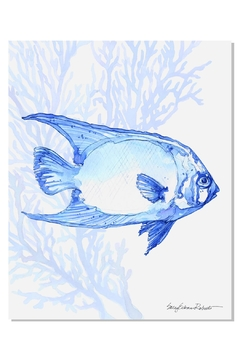 Shoptiques Product: Indigo Fish Print