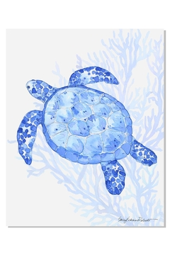 Shoptiques Product: Indigo Turtle Print