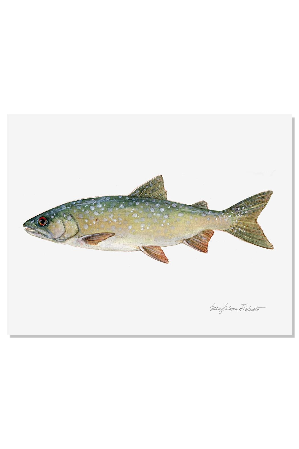Sally Eckman Roberts Lake Trout Print - Front Cropped Image
