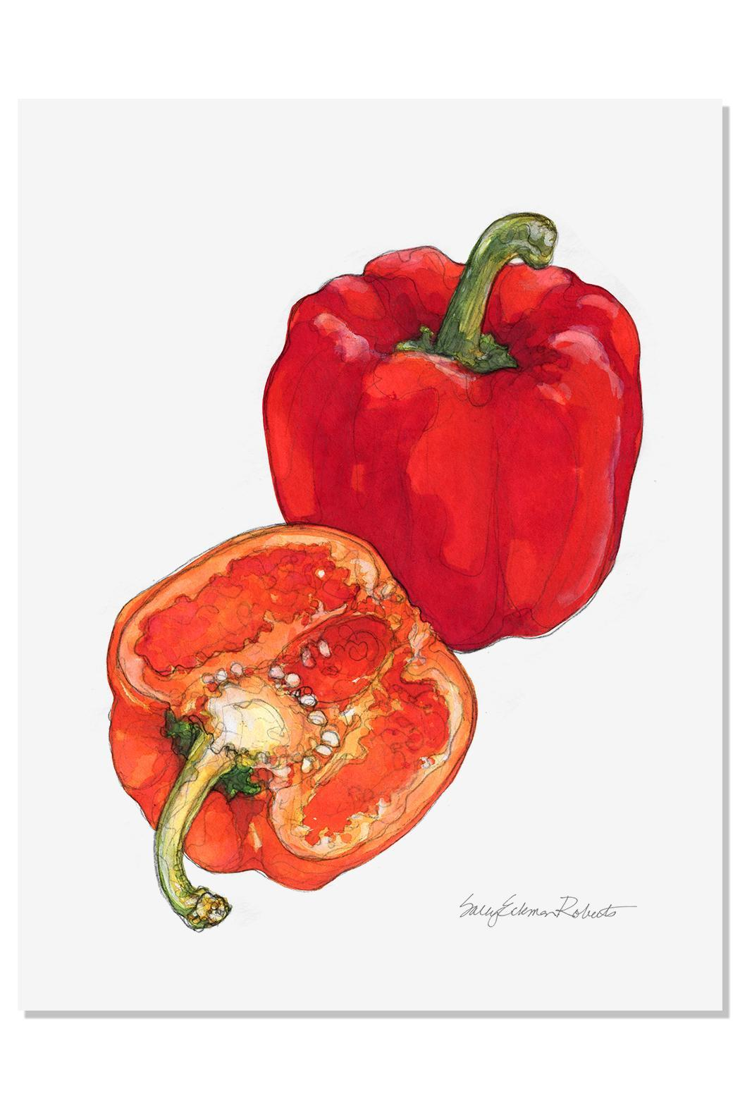 Sally Eckman Roberts Pepper Print - Main Image
