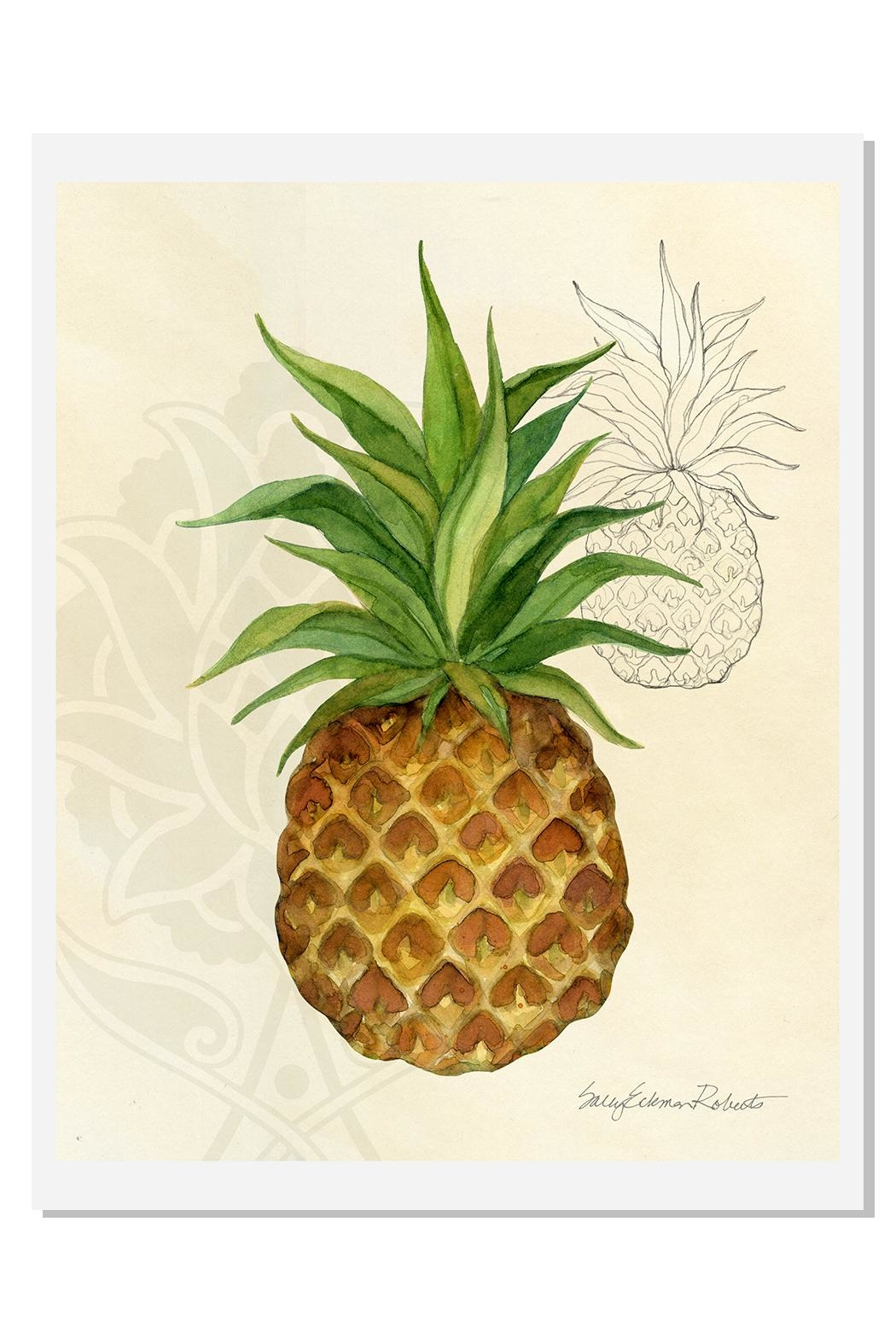 Sally Eckman Roberts Pineapple Breeze Print - Front Cropped Image