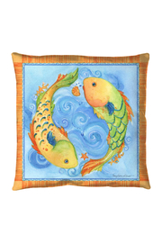 Sally Eckman Roberts Pisces Fish Pillow - Product Mini Image