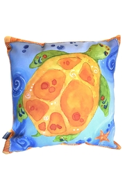 Sally Eckman Roberts Pisces Turtle Pillow - Product Mini Image