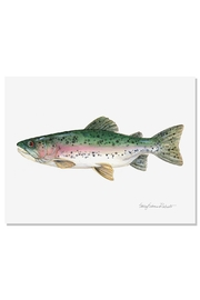 Sally Eckman Roberts Rainbow Trout Print - Front cropped