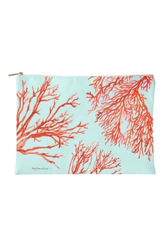 Sally Eckman Roberts Red-Coral Aqua Pouch - Alternate List Image