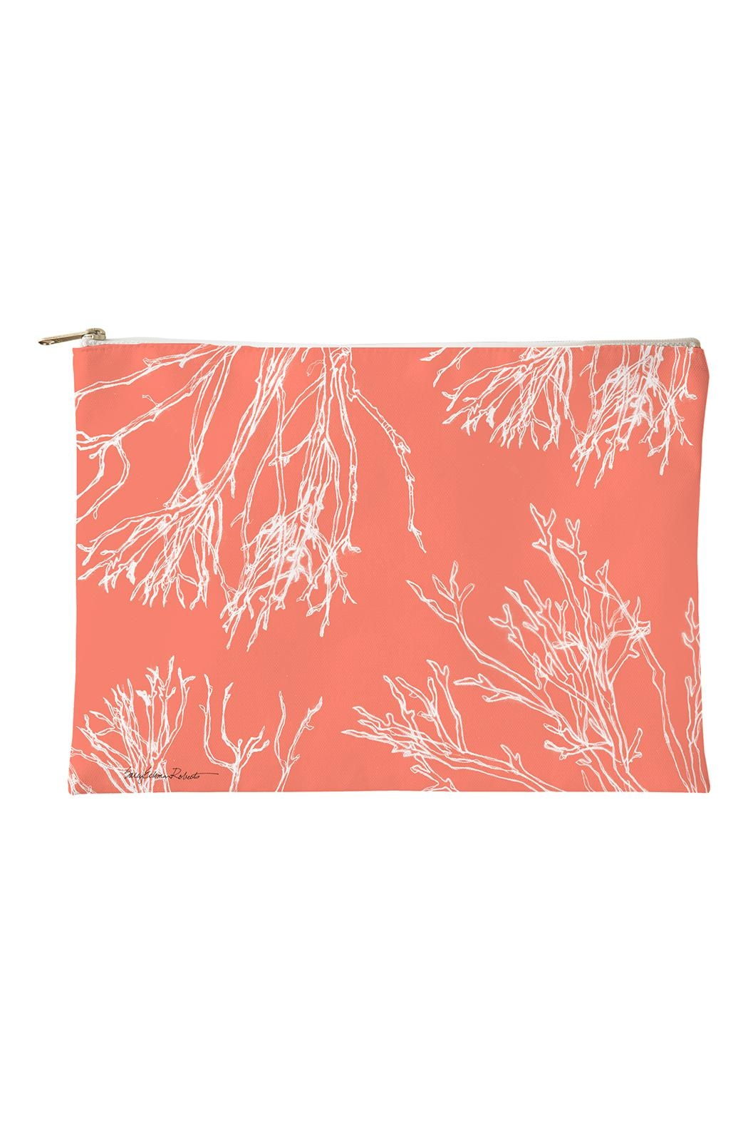 Sally Eckman Roberts Red-Coral Small Pouch - Main Image