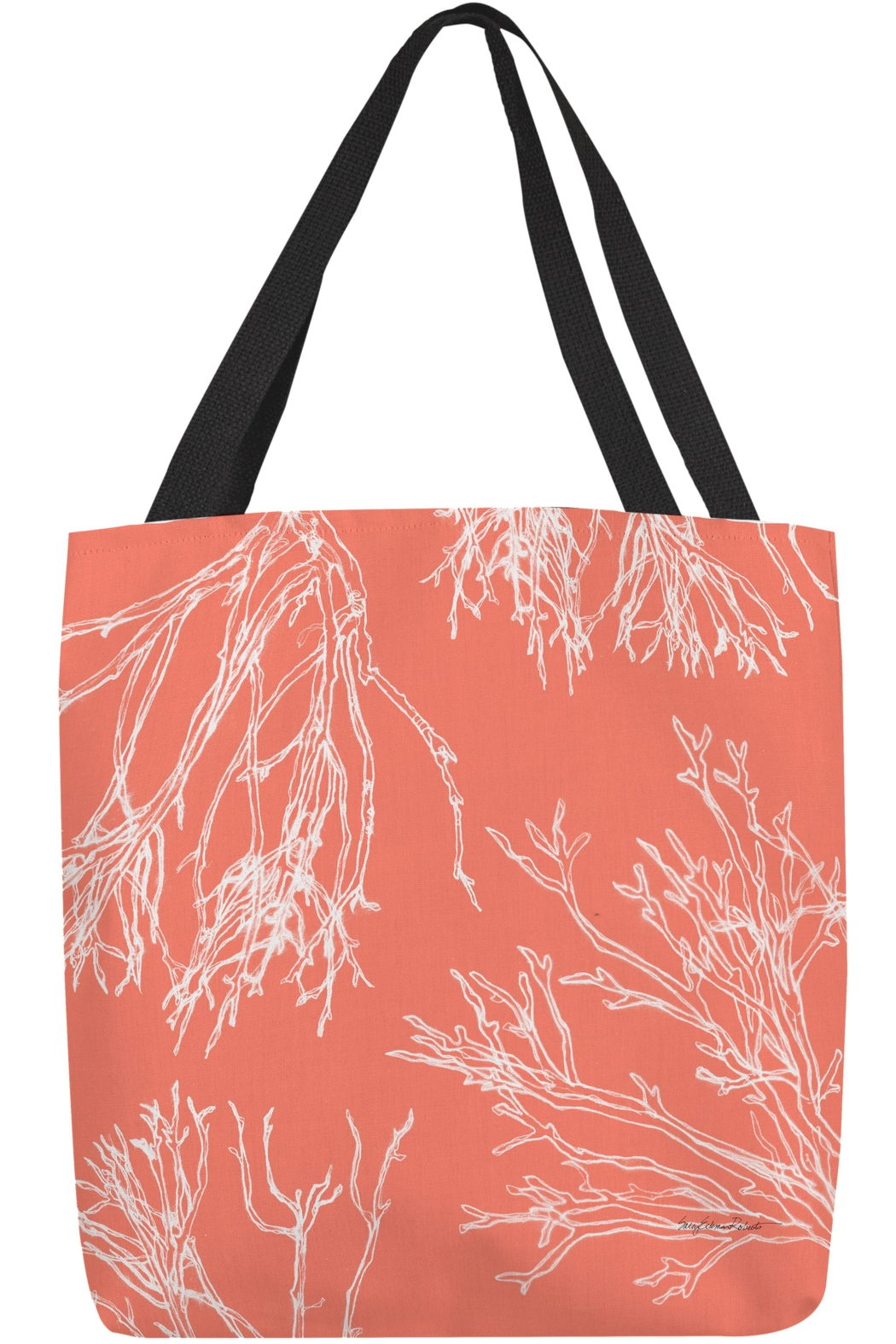 Sally Eckman Roberts Red Coral Tote - Main Image