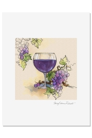 Sally Eckman Roberts Red Wine Print - Product Mini Image
