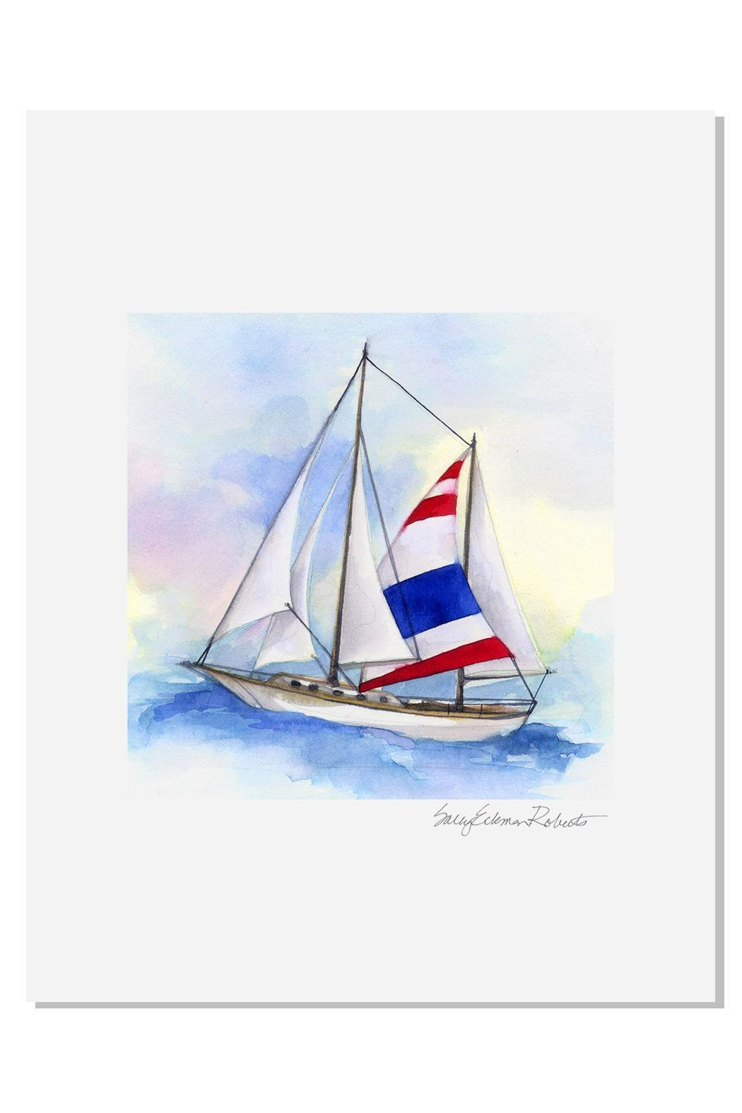 Sally Eckman Roberts Sailboat Print - Front Cropped Image