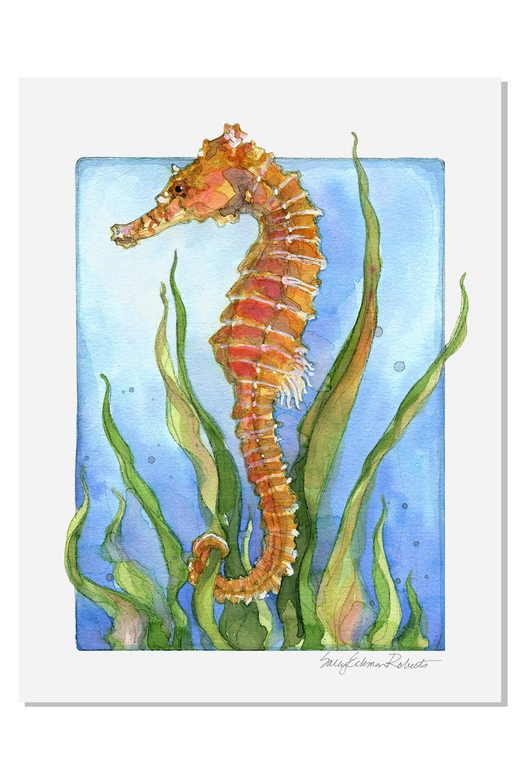 Sally Eckman Roberts Seahorse Print - Front Cropped Image