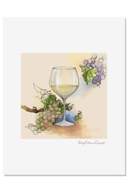 Sally Eckman Roberts White Wine Print - Product Mini Image