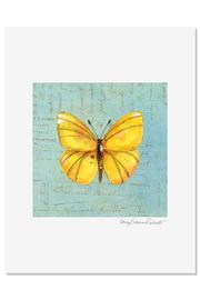 Sally Eckman Roberts Yellow Butterfly Print - Product Mini Image