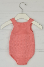 Granlei 1980 Salmon Knitted Onesie - Front full body