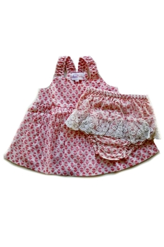 Shoptiques Product: Salmon-Pink-Floral-Motif-Bloomer-Set