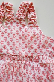 Cheeni Baby Salmon-Pink-Floral-Motif-Bloomer-Set - Front full body
