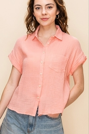 Favlux Salmon short sleeve button up - Product Mini Image