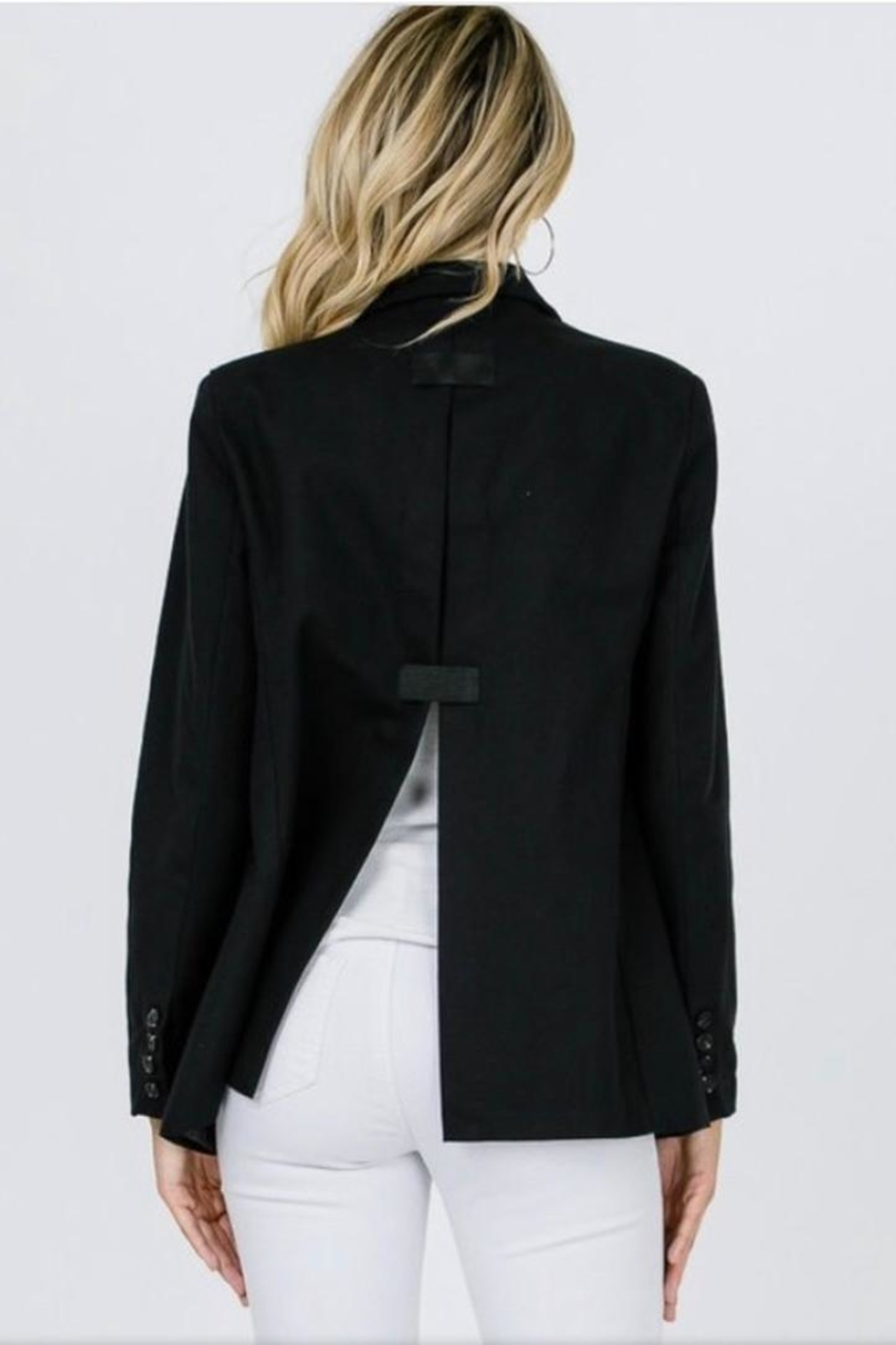 Salt Black Split Blazer - Main Image