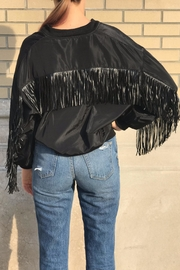 Salt Fringe Bomber Jacket - Product Mini Image