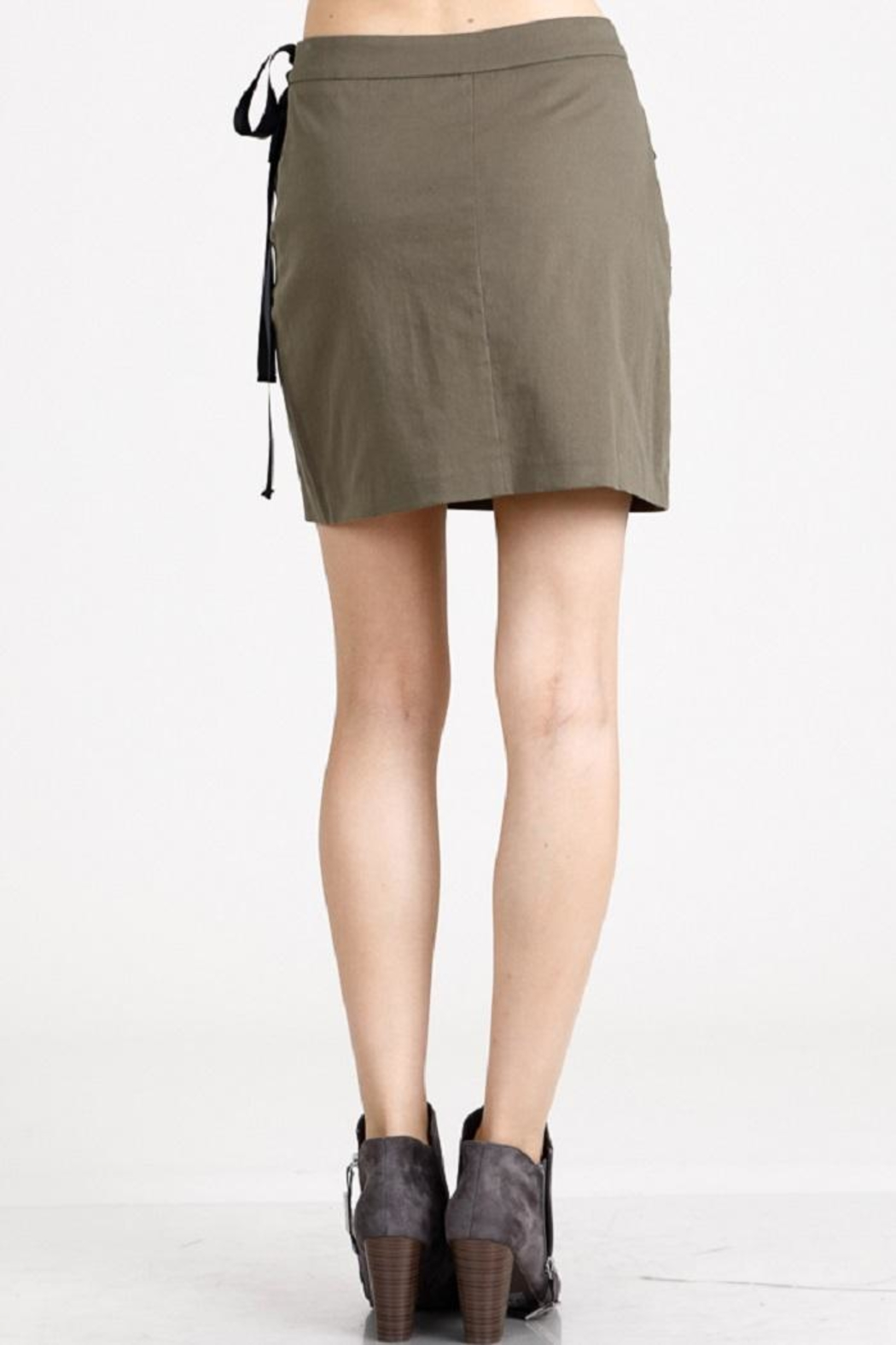 Salt Olive Jewel Skirt - Side Cropped Image