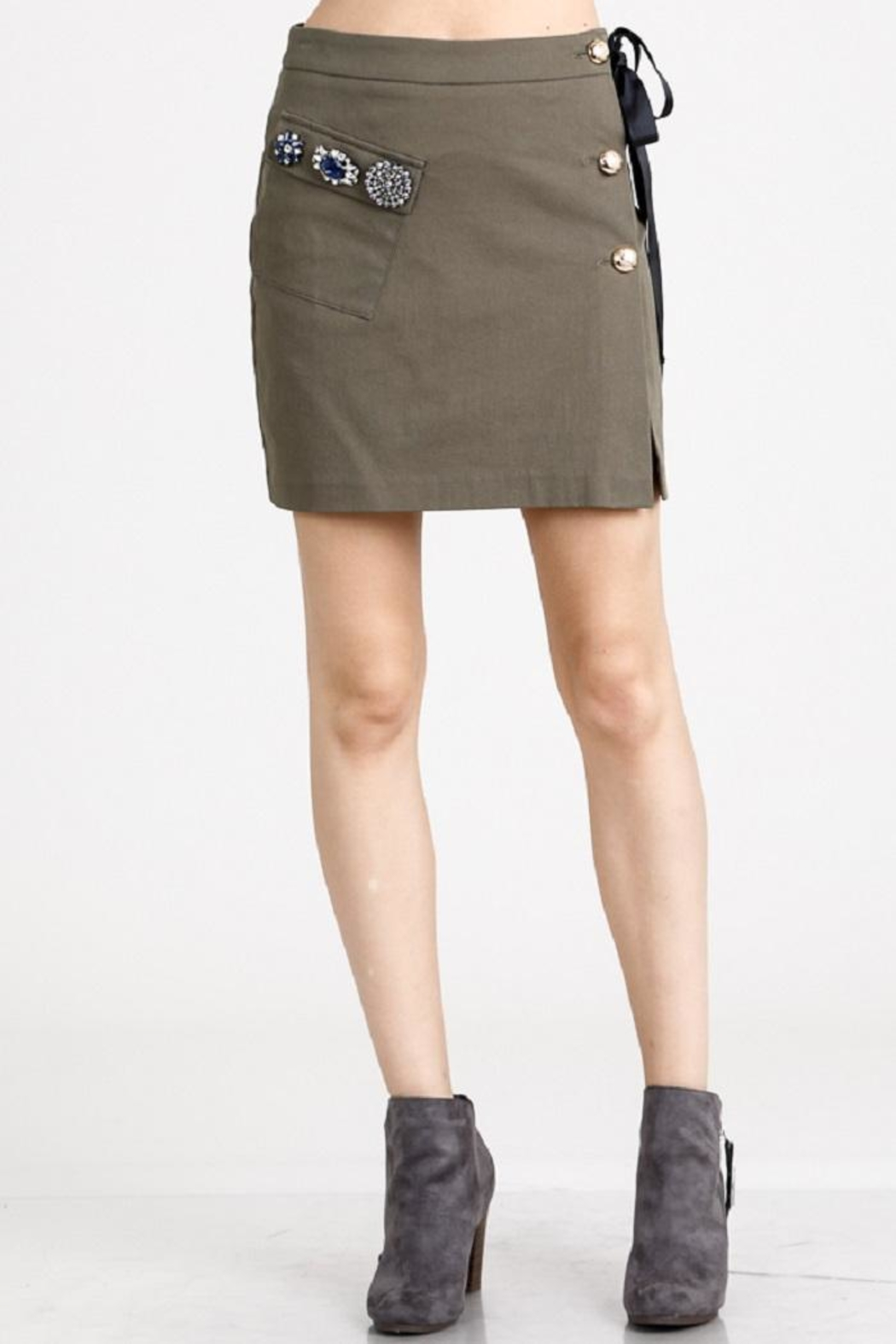 Salt Olive Jewel Skirt - Main Image