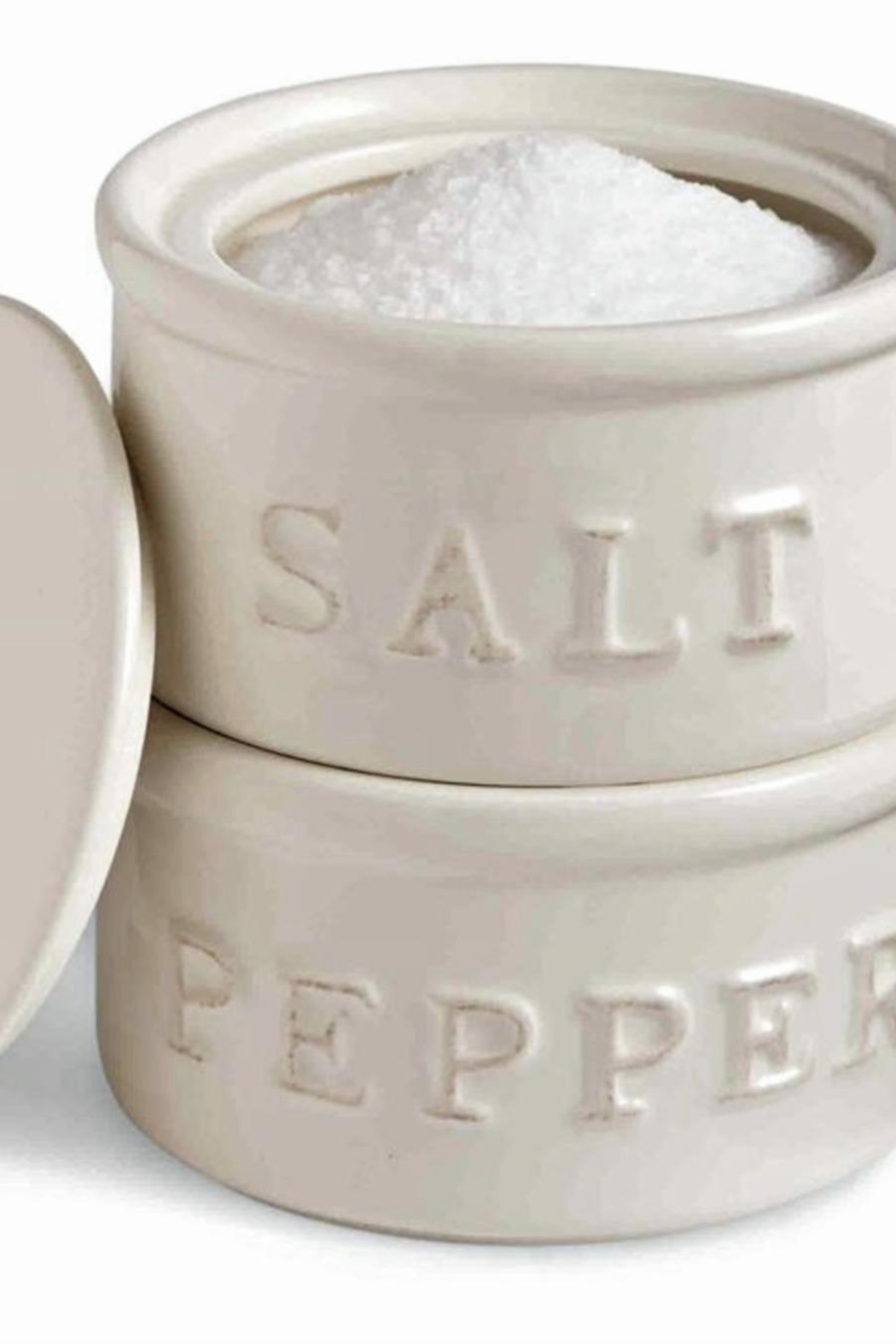 Mud Pie Salt & Pepper Cellar - Front Cropped Image