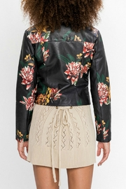 Flying Tomato Floral Moto Jacket - Side cropped