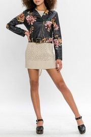Flying Tomato Floral Moto Jacket - Front cropped