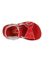 Salt Water Sandals Sun-San Red Sweetheart - Front full body
