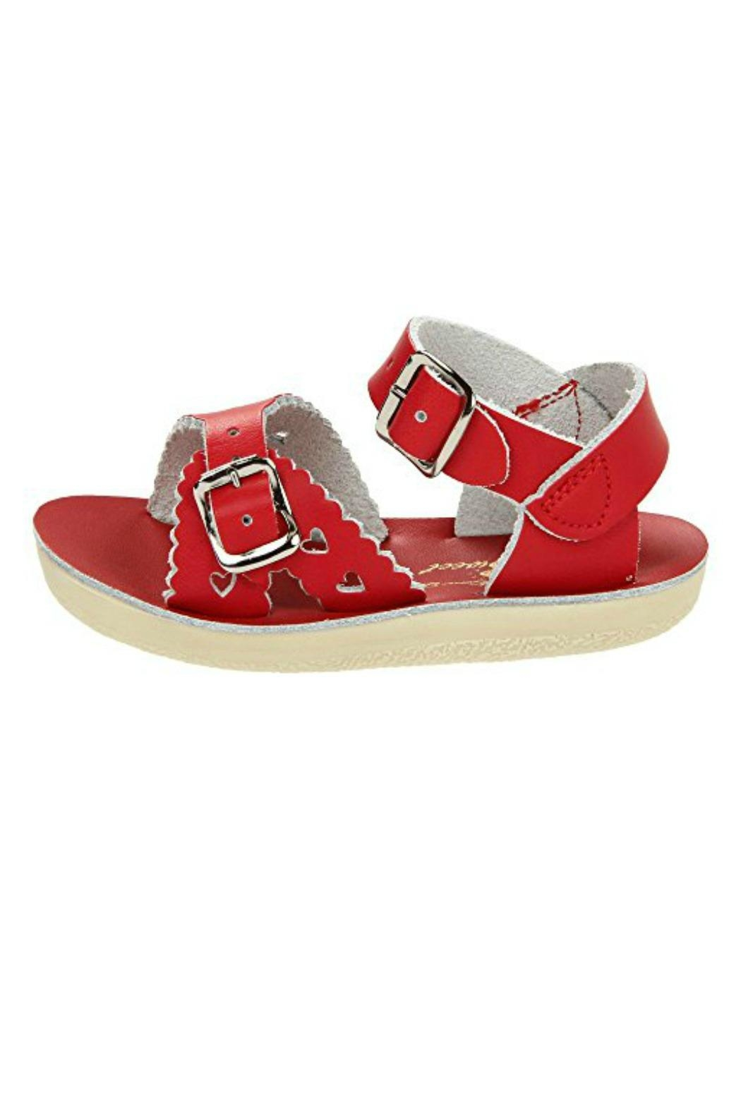 Salt Water Sandals Sun-San Red Sweetheart - Front Cropped Image