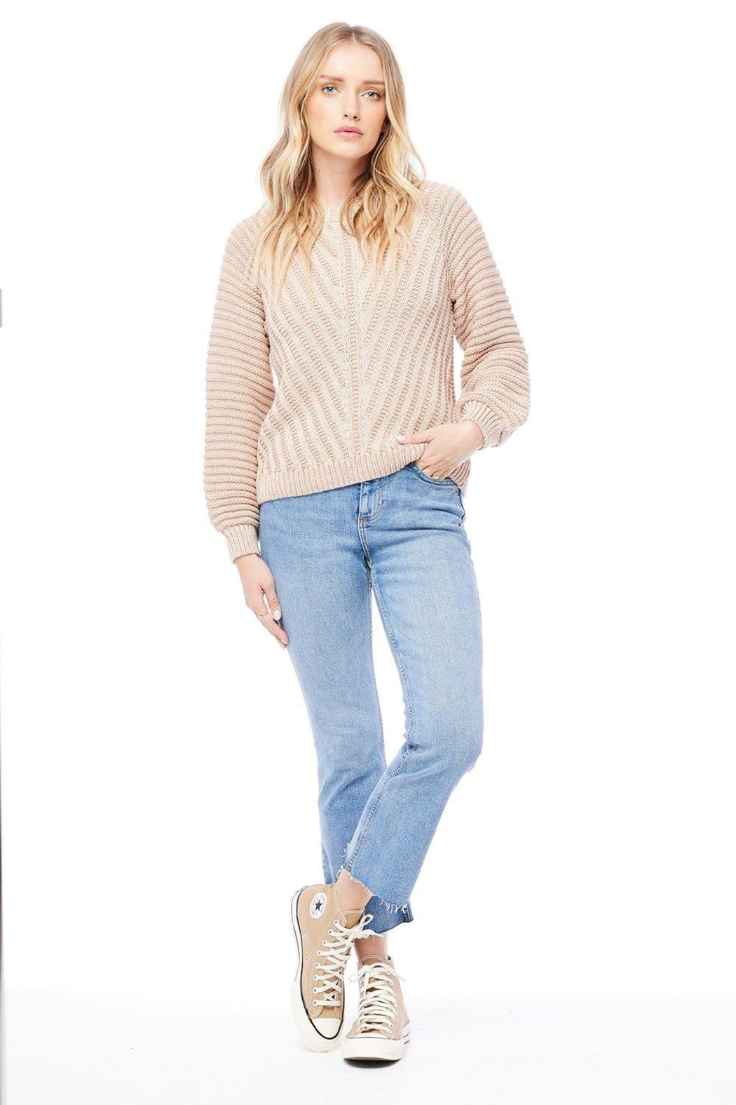 Saltwater Luxe Bergen Sweater - Back Cropped Image