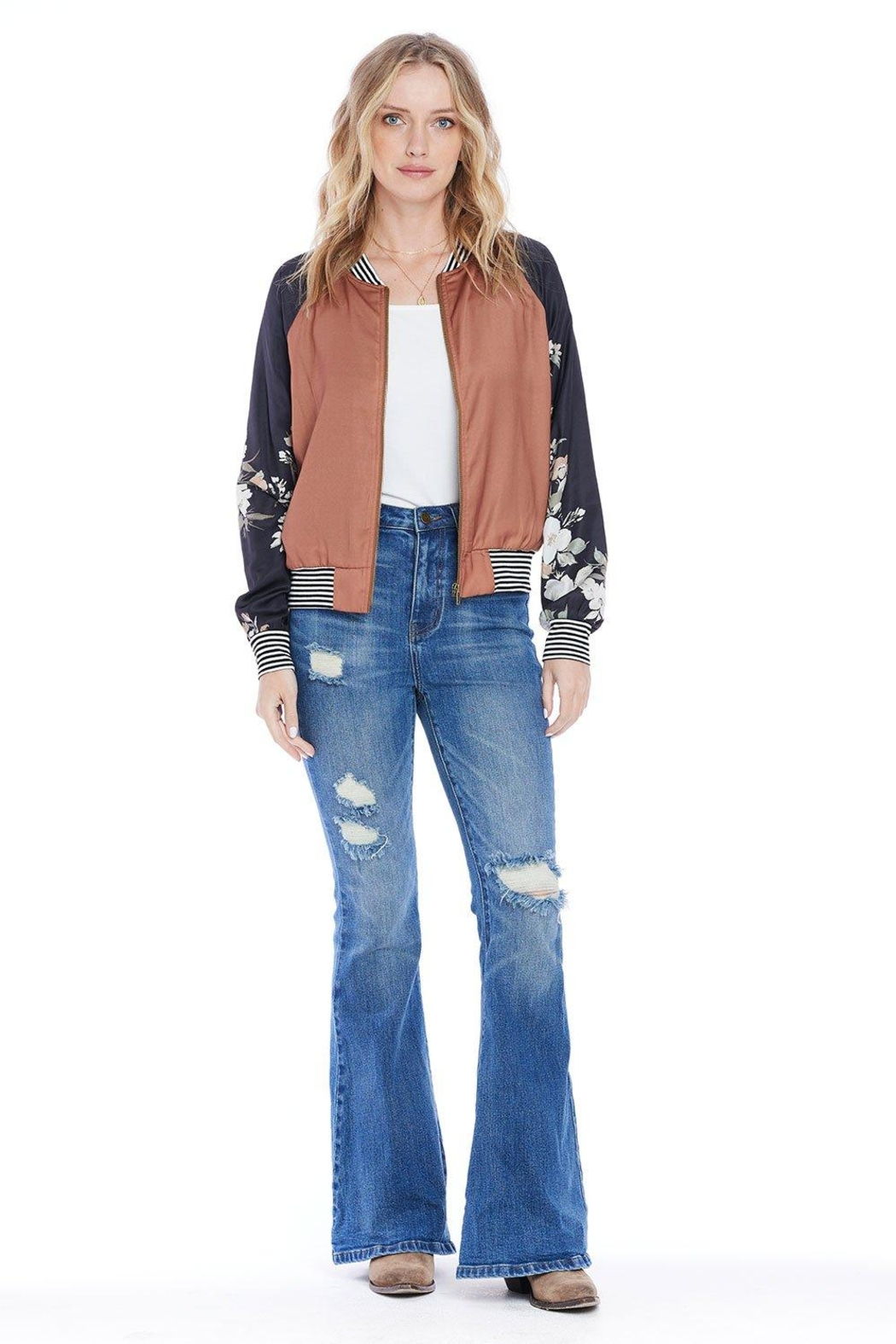 Saltwater Luxe Crossroads Bomber - Back Cropped Image