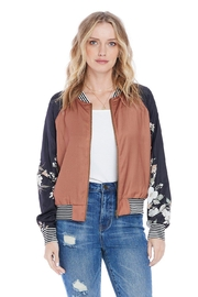 Saltwater Luxe Crossroads Bomber - Front cropped