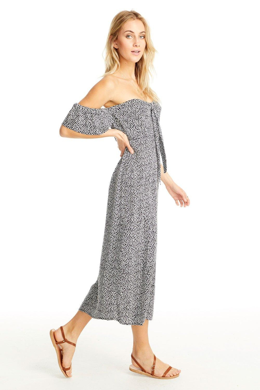 Saltwater Luxe Del-Mar Midi Dress - Front Full Image