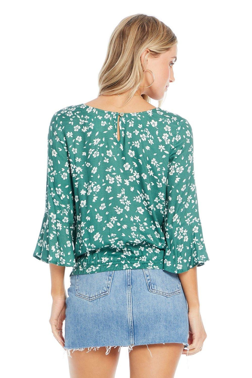 Saltwater Luxe Evergreen Floral Blouse - Front Full Image
