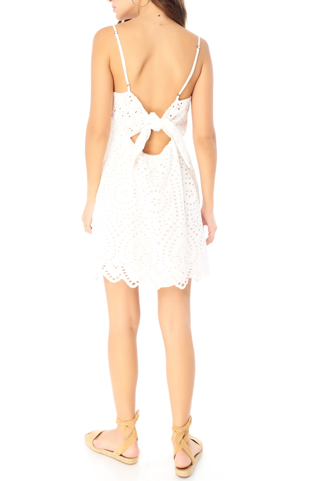 Saltwater Luxe Eyelet Tie-Back Mini - Front Full Image