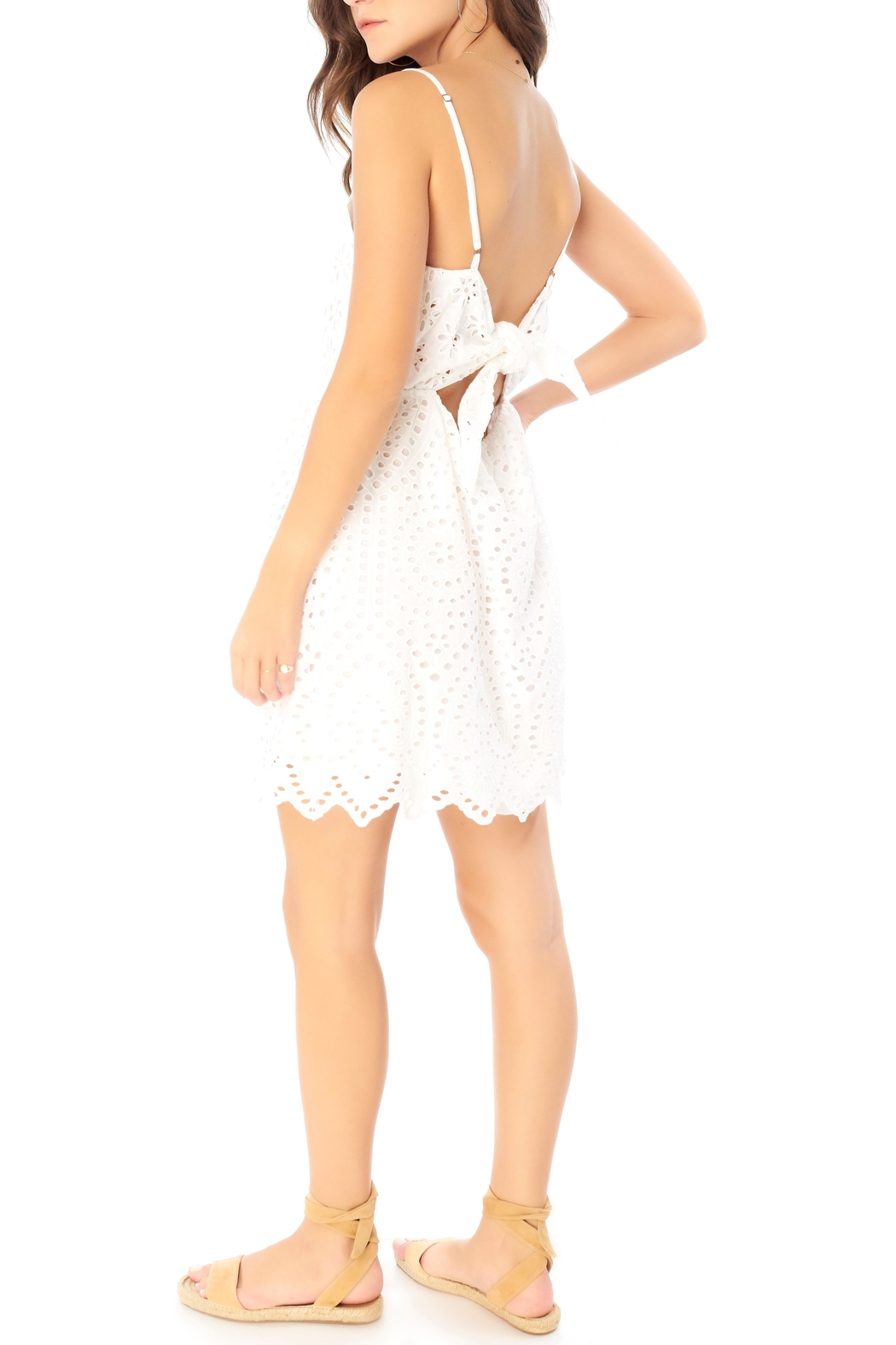 Saltwater Luxe Eyelet Tie-Back Mini - Side Cropped Image