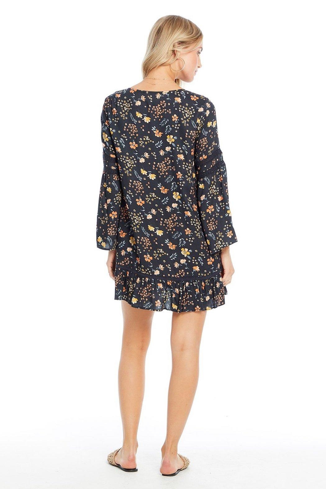 Saltwater Luxe Floral Midi Dress - Side Cropped Image