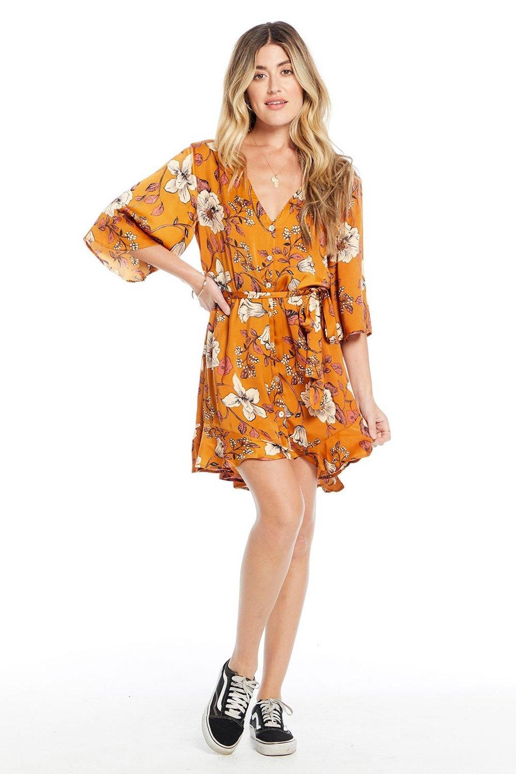 Saltwater Luxe Floral Mini Dress - Main Image