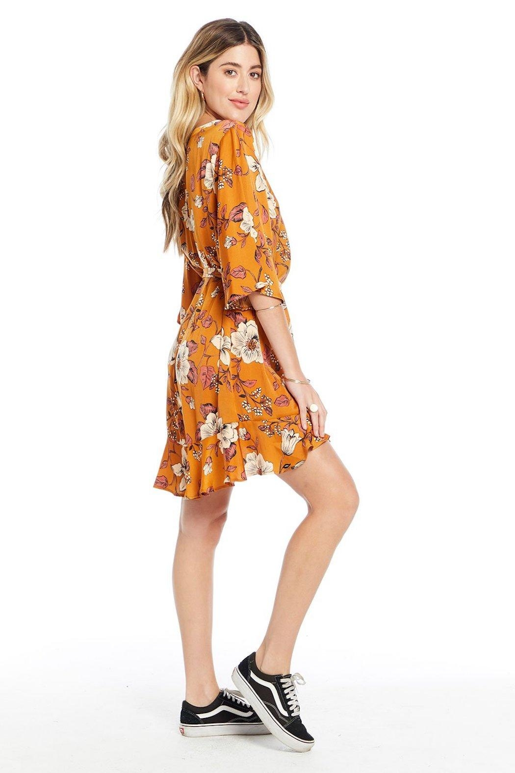 Saltwater Luxe Floral Mini Dress - Side Cropped Image