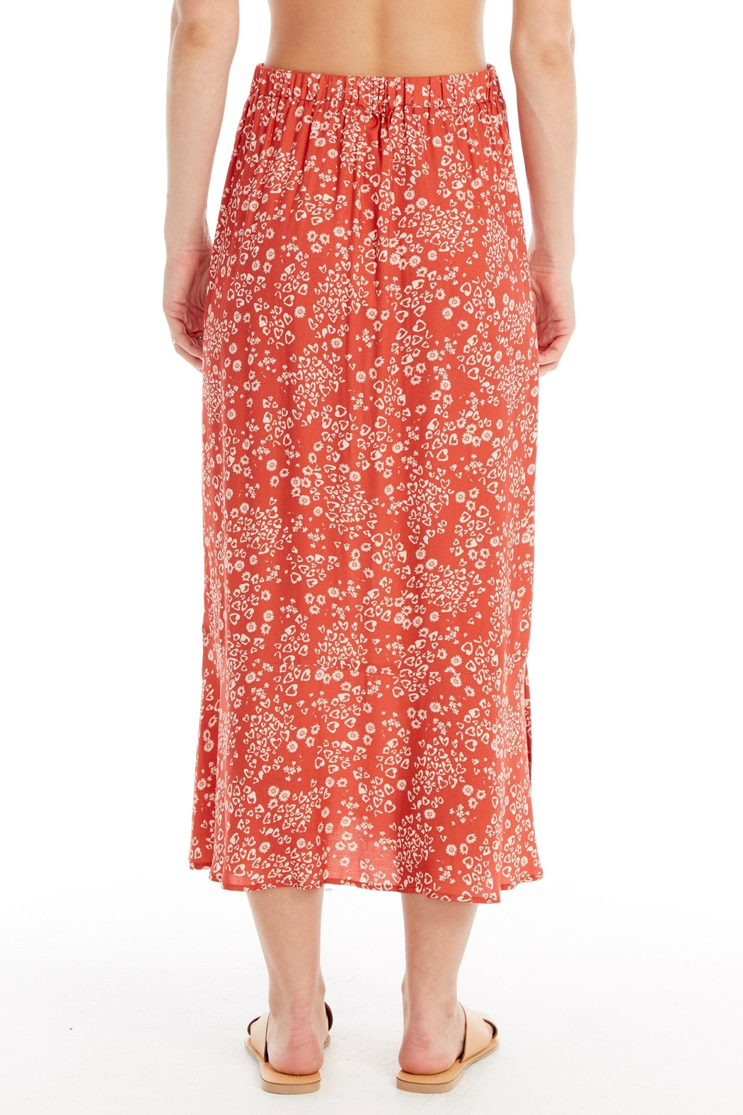 Saltwater Luxe Heart Cheetah Midi-Skirt - Side Cropped Image