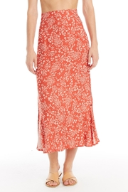 Saltwater Luxe Heart Cheetah Midi-Skirt - Front cropped