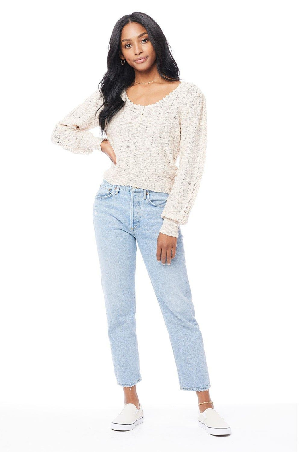 Saltwater Luxe Hudson Sweater - Back Cropped Image