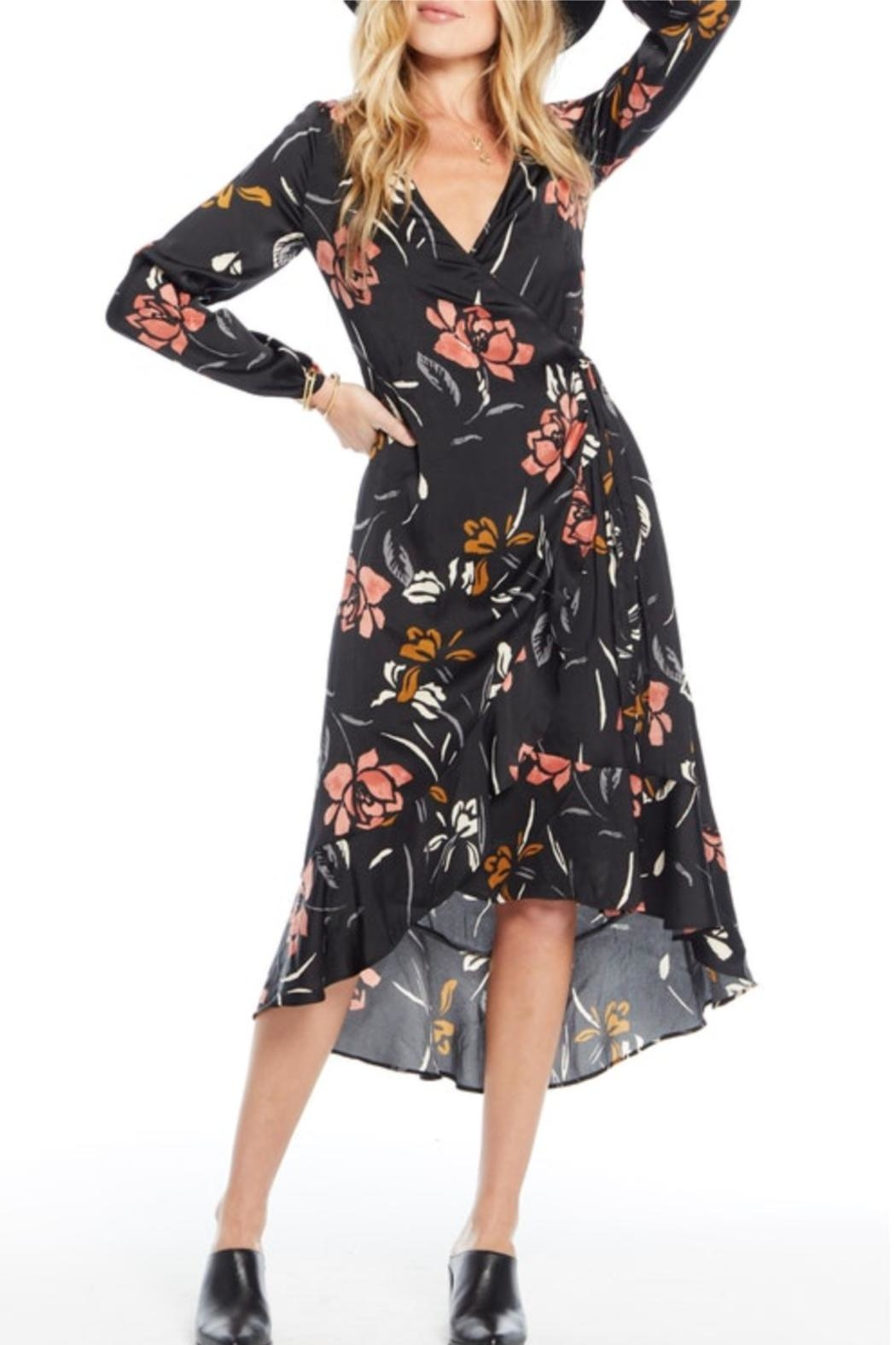 Saltwater Luxe Long-Sleeve Wrap Dress - Main Image