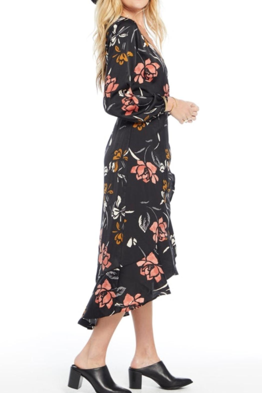 Saltwater Luxe Long-Sleeve Wrap Dress - Front Full Image