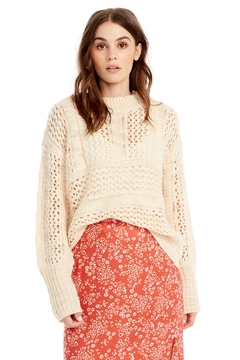 Saltwater Luxe Open Weave Sweater - Product List Image