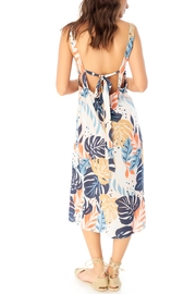 Saltwater Luxe Palm Print Midi - Side cropped