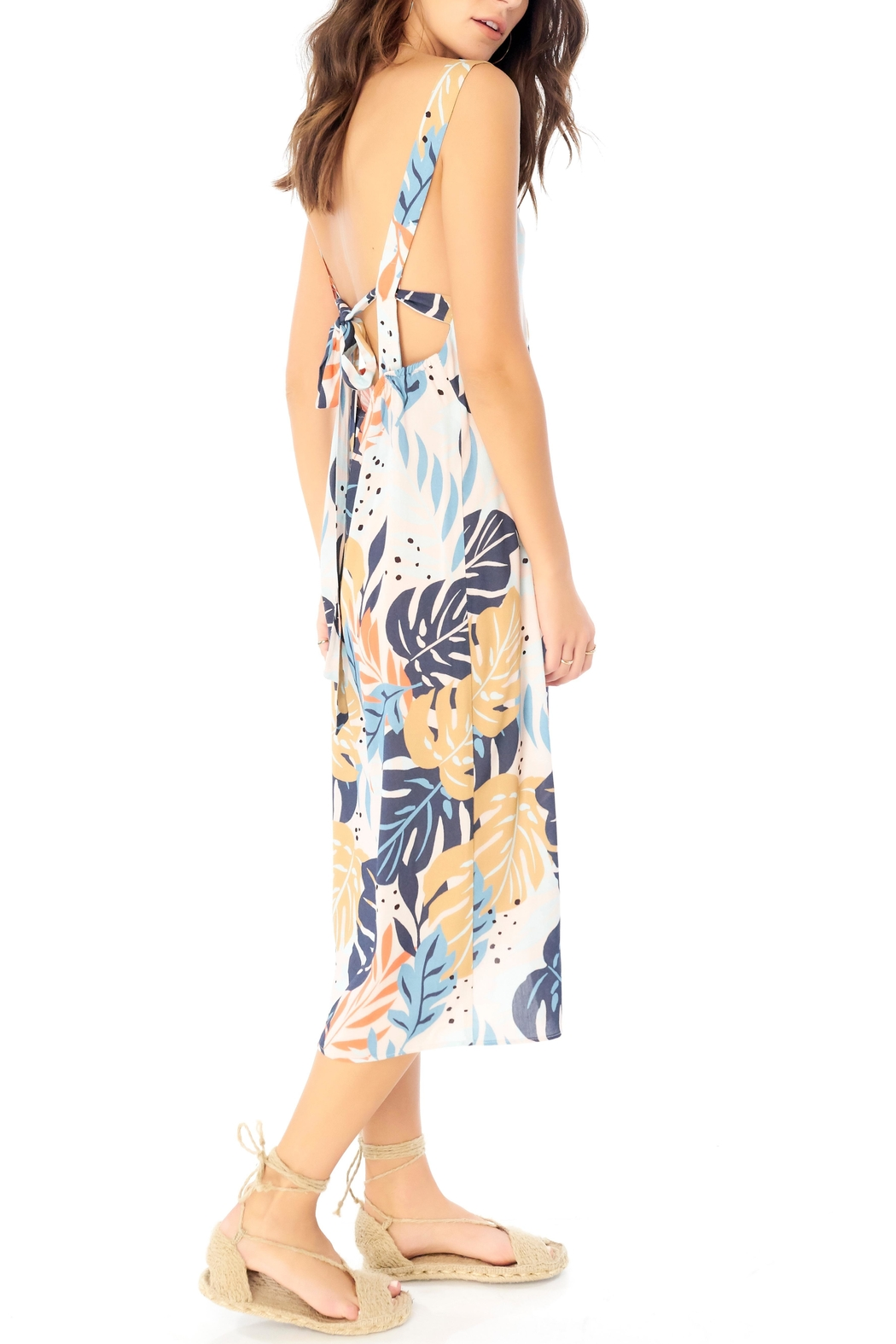 Saltwater Luxe Palm Print Midi - Front Full Image