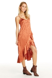 Saltwater Luxe Ruffled Slip Dress - Front full body