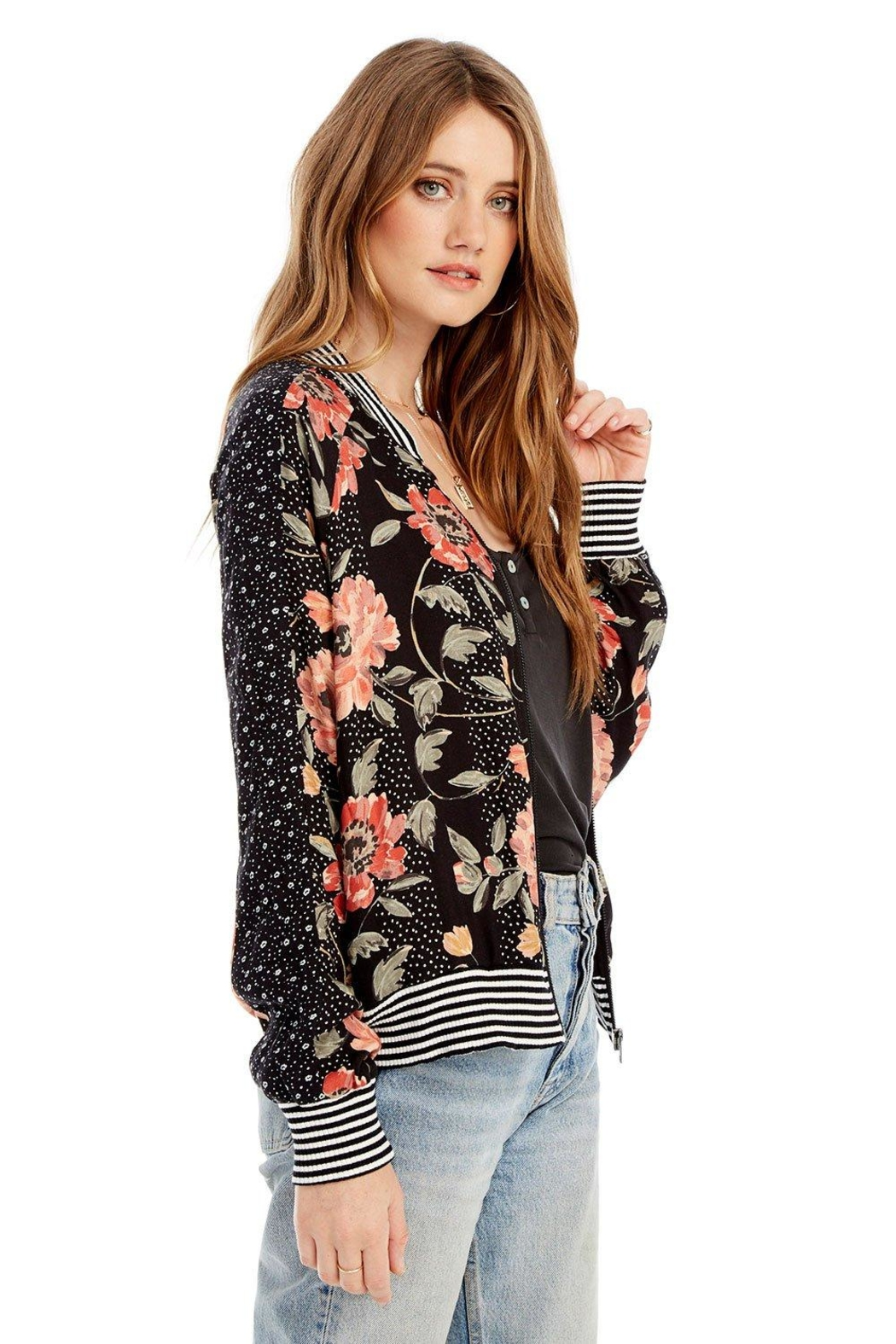 Saltwater Luxe Seville Bomber Jacket - Front Full Image