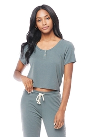 Saltwater Luxe Short-Sleeve Button Tee - Product Mini Image
